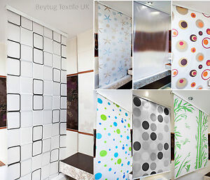 Image Is Loading Modern Bathroom Shower Curtain Roller Blinds Extra Long