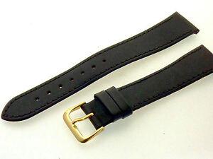 # L177 # Uhrenarmband Leder Bracelet Juwelier QualitÄt 20 Mm Dunkelbraun + Naht