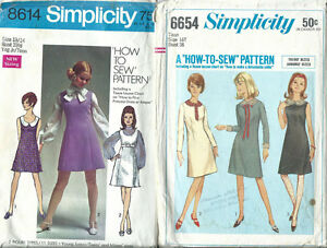6c4bbde184ae3 Lot 2 Vintage Teen & Junior Clothing Patterns Sewing Dresses Size ...