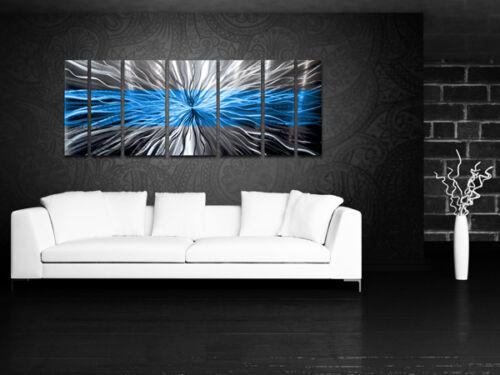 Metal Wall Art Blue Modern Abstract Sculpture Painting Home Decor by Brian Jones