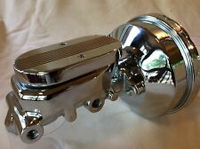 "1952-1972 Ford Fullsize 8"" chrome power brake booster & flat top master cylinder"