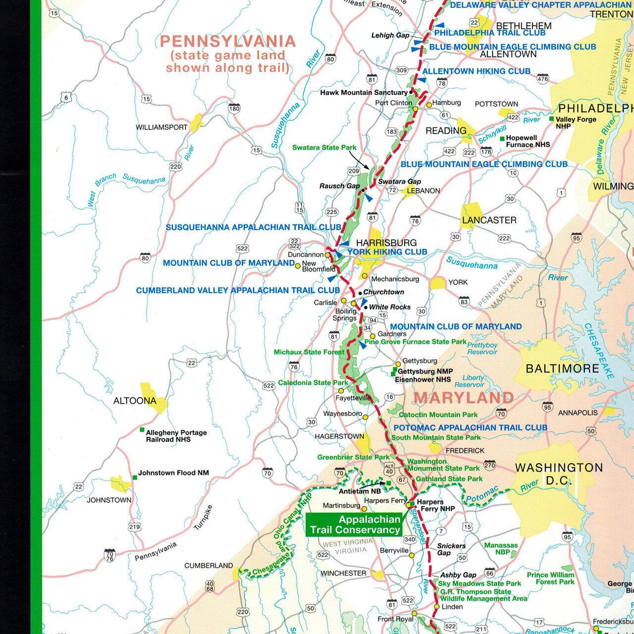 Appalachian Trail Conservancy 9 X 48 Inch Poster Strip Map