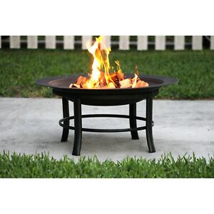 Bonfire Fire Pit For Patio Deck Grass Or Out Pvc Cover And Spark Guard 28 Ebay