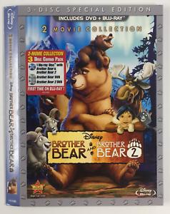 Brother-Bear-1-2-Slipcover-ONLY-for-DVD-BLURAY-WALT-DISNEY-ANIMATION-EMBOSSED