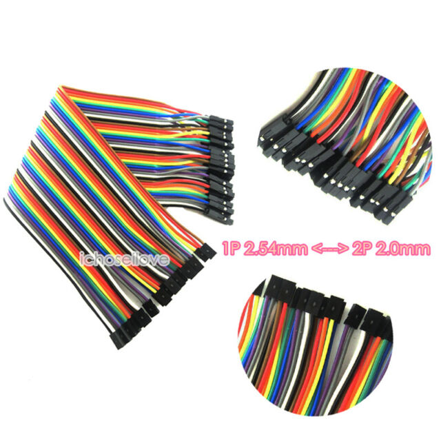 1P 2.54mm to 2P 2.0mm Female to Female 20cm 40P Dupont Connector Wire Cables