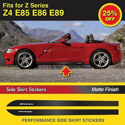 For BMW Z4 E85 E86 E89 M Performance Side Skirt Sill Stripe GLOSS Decal Stickers