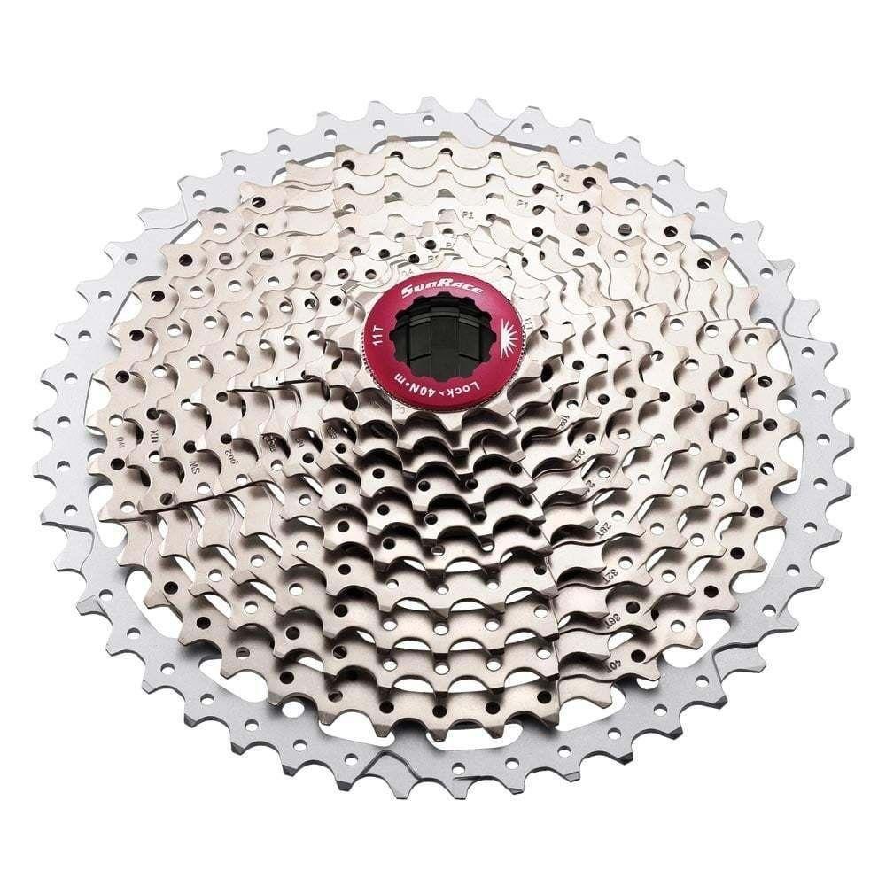 SunRace CS MX8 relación de  ancho de 11 velocidades 11-46T Bicicleta De Montaña Cassette-Plata  comprar nuevo barato