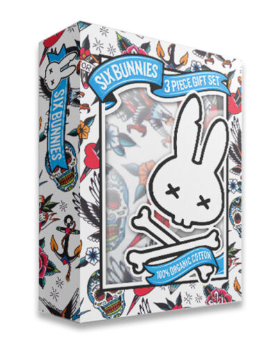 Six Bunnies tattoo shoppe gift set baby clothes alternative goth rock metal