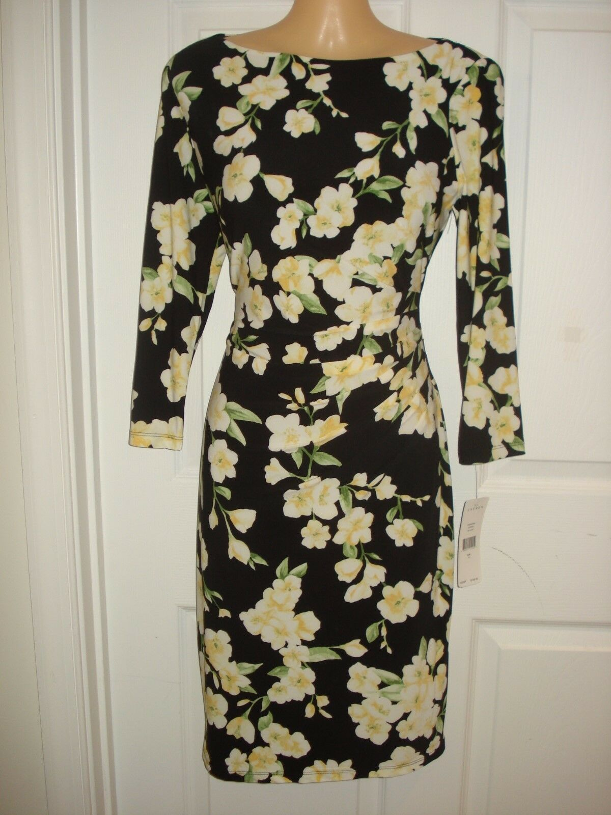 Lauren Ralph Lauren Wear to Work Floral Print Sheath Dress Sz 4