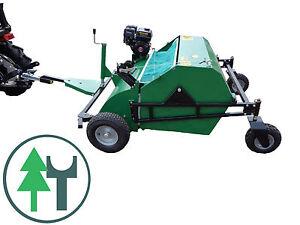 Rasenkehrmaschine-120Profi-Laubsammler-Pferdeaepfelsammler-fuer-ATV-Rider-Quad