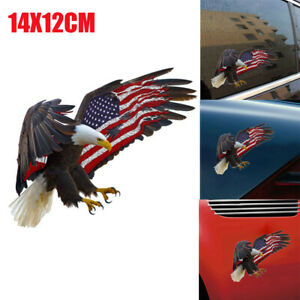 1X-Bald-Eagle-USA-American-Flag-Sticker-Car-Truck-Window-Decal-Accessory-Cooler