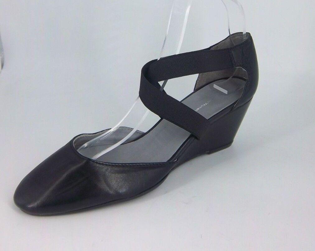 John Lewis Wedge Heel Cross over Strap shoes's Black Size UK 5 EU 38 NH181 EE 04