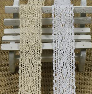 5Y Wedding dress clothing accesories Vintage Cotton Crochet Lace Trim Craft