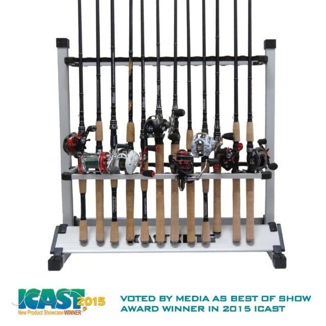 rod stand spinning organize rod storage rod showcase Fishing rod organizer