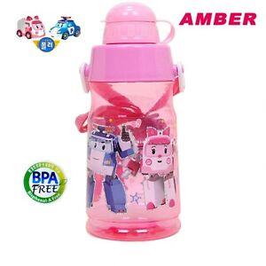 Plastic kids water bottle robocar poli amber character 500ml school girls ebay - Robocar poli ambre ...