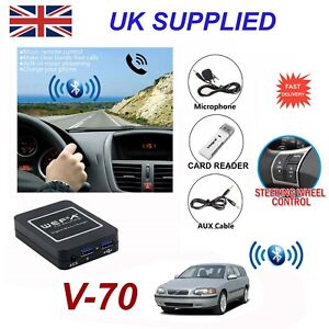 For Volvo V70 Bluetooth Hands Free Phone AUX Input MP3 USB Charger Module HU