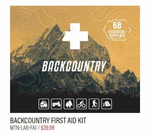 Skiing /& Snowboarding Mountain Lab Backcountry First Aid Kit For Snowmobiling