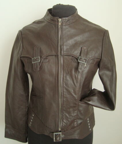 Zip Jacket L Leather Brown 2947 Ladies' Size wxBgSqnA