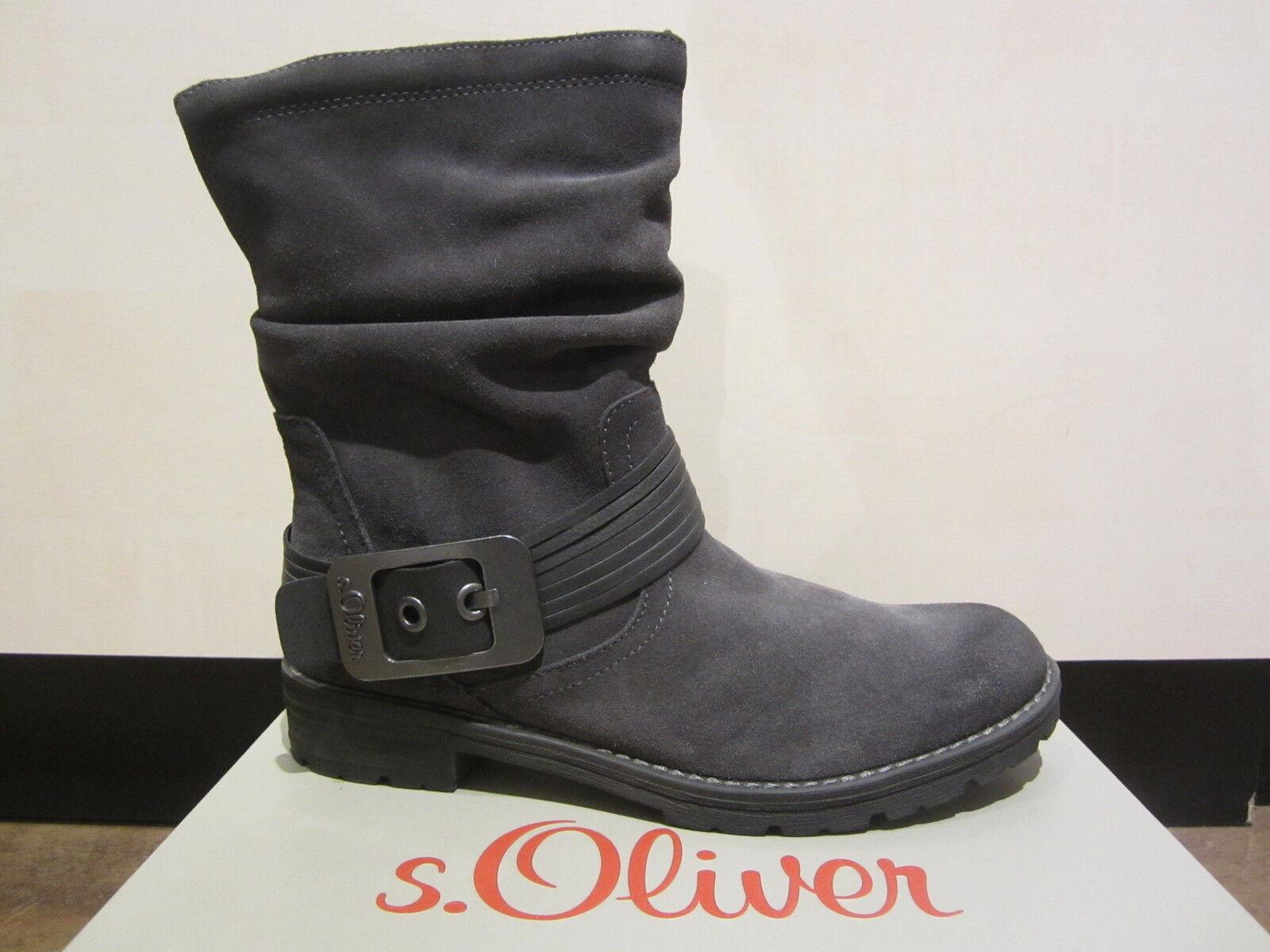 Grandes zapatos con descuento s. Oliver Botas, Botines, botas, gris oscuro, Ligero Forrado NUEVO
