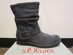 s-Oliver-Botas-Botines-botas-gris-oscuro-Ligero-Forrado-NUEVO