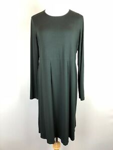 J-Jill-Wearever-Collection-Black-Pullover-Stretchy-Knit-Dress-Long-Sleeve-Sz-S
