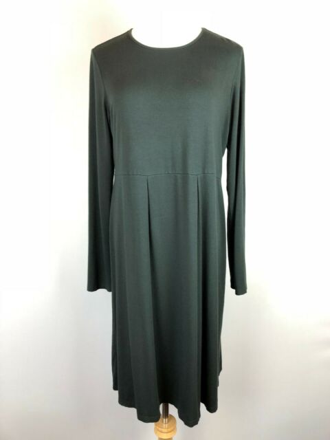 J Jill Wearever Collection Black Pullover Stretchy Knit Dress Long Sleeve Sz S