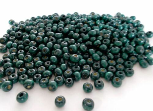 TEAL BLUE 1800pcs 6mm WOODEN Round Spacer Beads DARK TURQUOISE A41