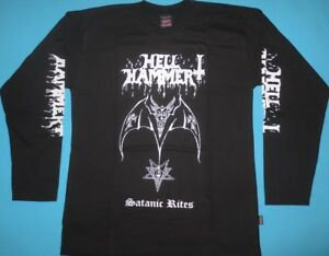 Hellhammer Satanic LEbay Sleeve T Shirt Long Rites Size dBoeCxWr