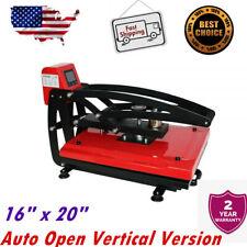 Ving 16 X 20 Auto Open Heat Press T Shirt Machine Vertical Version