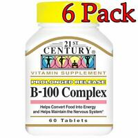 21st Century B-100 Complex Prolonged Release Tab, 60ct, 6 Pack 740985222829a540