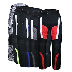 Men-039-s-Motorbike-Motorcycle-Waterproof-Cordura-Textile-Trousers-Pants-Armours