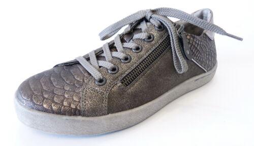 Remonte Halbschuh Sneaker Schnür D5201 91 moro gold steel metallic Reißverschluß