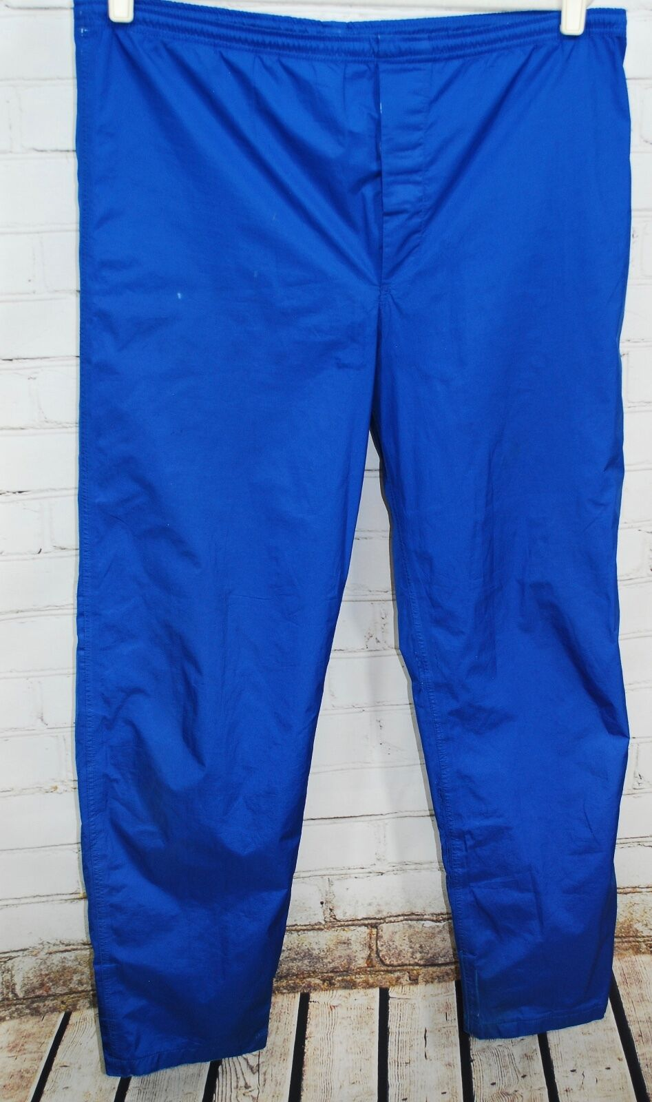 Eddie Bauer GORETEX Waterproof Camping Pants Men's L bluee 32  Inseam - AS IS