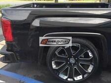 "22"" GMC Yukon Denali Style Wheels Tires Gloss Black Rims Sierra Tahoe Silverado"