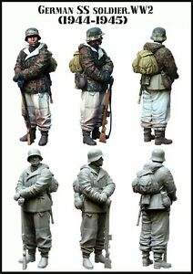 1-35-RESIN-MODEL-KIT-FIGURE-WW2-GERMAN-SS-SOLDIER-1-TOP-QUALITY-MOLDED-FIGURE