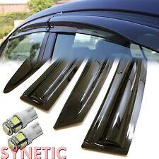 12-15 Honda Civic Sedan 4D Mugen Window Visors+White T10/194/921 LED SMD bulbs