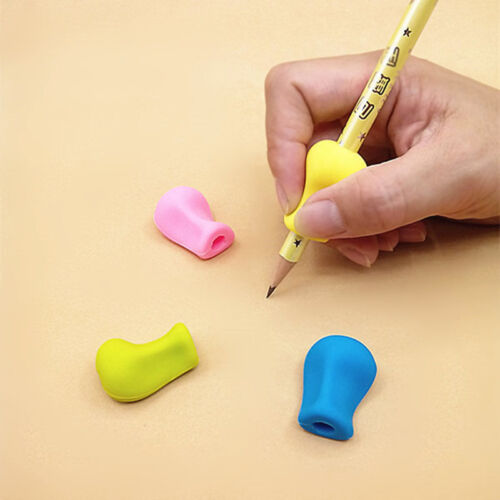 3× Silikon gel Bleistift Stift Handwriting Aid Grip Rechts Linkshänder Gr G M5F0