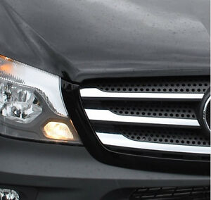 Chrome grille trim accents covers strips highlights for Mercedes benz chrome accessories