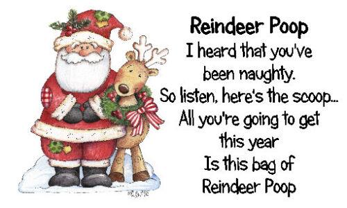 #10 Reindeer Poop Stickers x 42