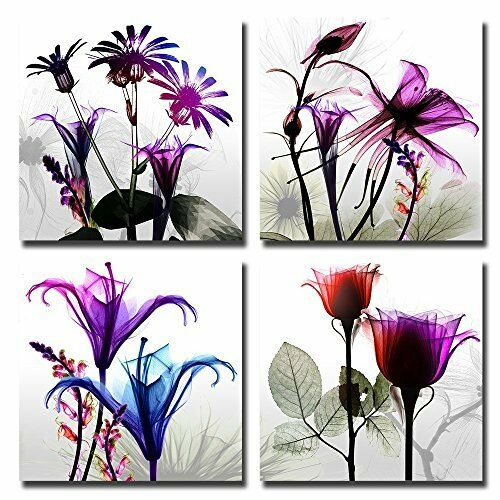 youkuart Canvas Prints Purple tree Framed Canvas Wall Art for Home Decor Perfect