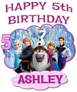 FROZEN HAPPY BIRTHDAY T SHIRT Personalized Any Name