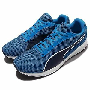 New-Puma-Mens-Running-Burst-Mesh-Blue-Black-White-Size-US-7-5