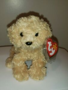 Ty Beanie Baby - DOOLEY the Golden Retriever Dog (6.5 Inch) MINT with MINT TAGS
