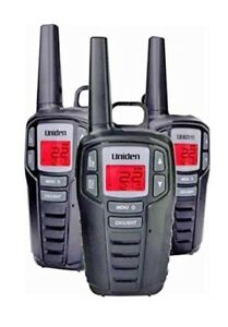 UNIDEN-Long-Range-30-Mile-GMR-FRS-22-Channel-Two-Way-Radio-Walkie-Talkies-3-pack