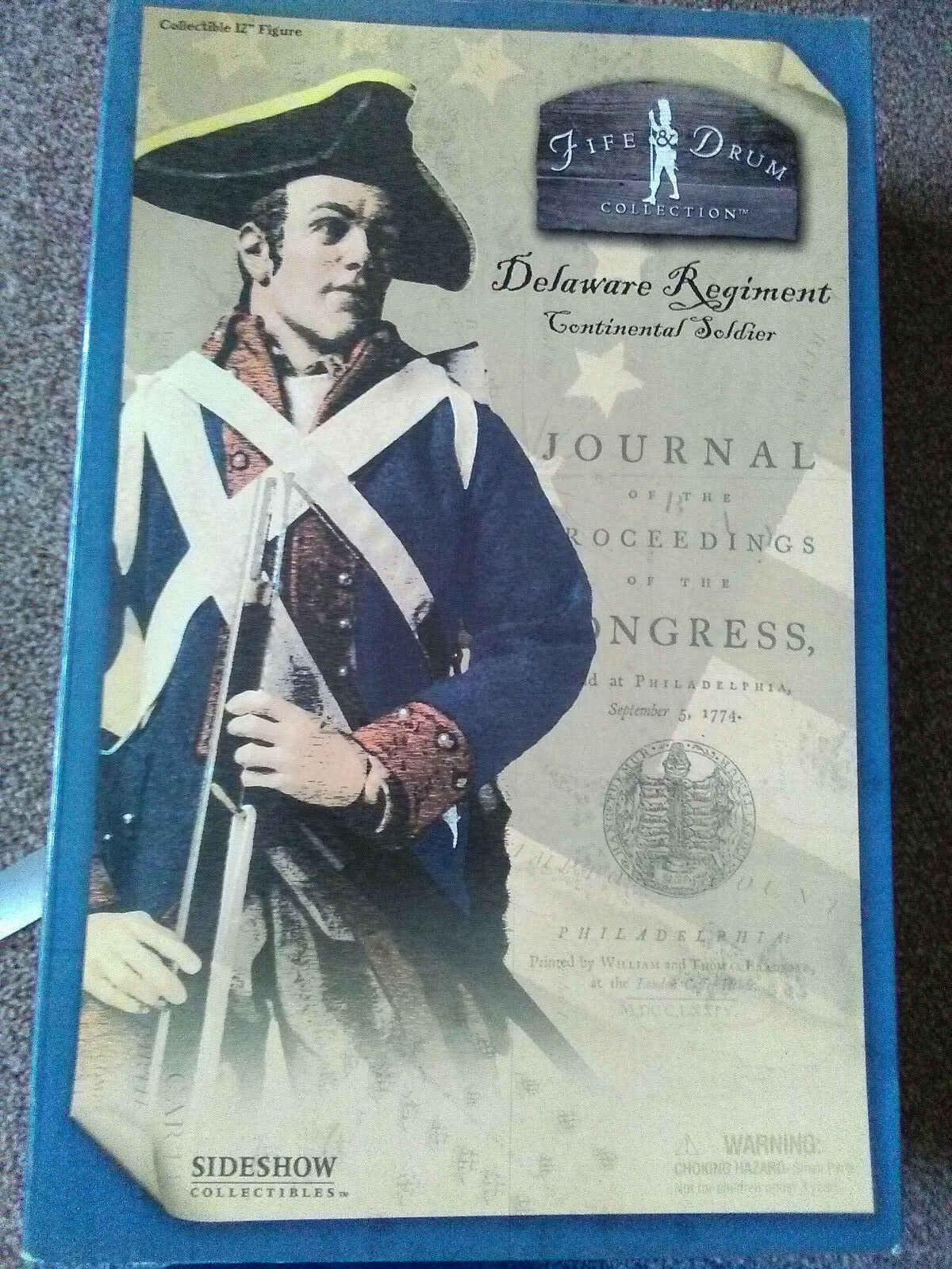 FIFE & DRUM COLLECTION 12 FIGURE DELAWARE REGT CONTINENTAL SOLDIER 1775-1783