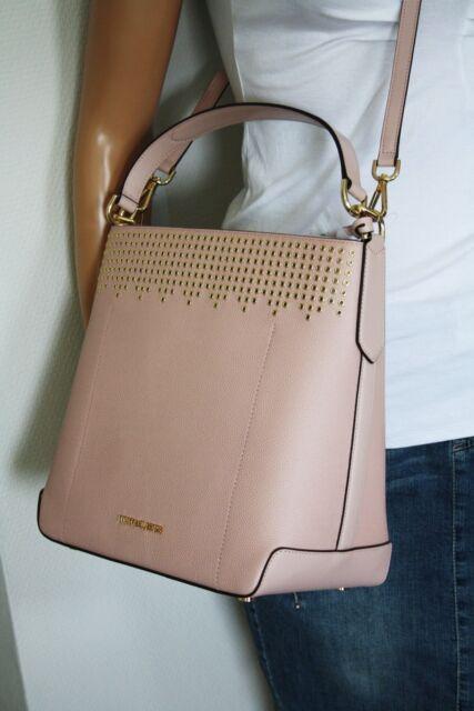 2cf8bfba27a0 Michael Kors Bag   Bag Hayes LG Bucket SHLDR Leather Pastel Pink ...