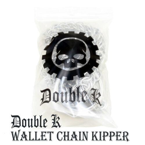 """24/"""" Dark Squelette Main Motard Camionneur poche clé Jean wallet chain argent NCS17"""