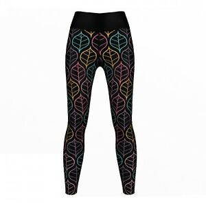 Germanwear Art Leaves Leggings Extensible Sport Gymnastique Training Danser Loisirs-afficher Le Titre D'origine