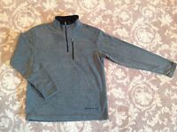Free Country Mens Microtech Fleece Gray All Season Pull Over Xx-large