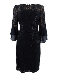 Lauren-by-Ralph-Lauren-Women-039-s-Sequined-Lace-Dress